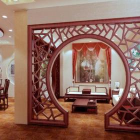 中式风格客厅隔断造型装修效果图中式风格屏风图片
