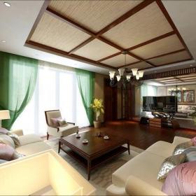 電視背景墻實木家具沙發東南亞風格客廳吊頂裝修效果圖東南亞風格茶幾圖片