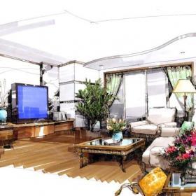 客廳10平米手繪圖效果圖