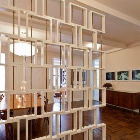 61-90平米三居室创意设计风格客厅米色博古架装修效果图