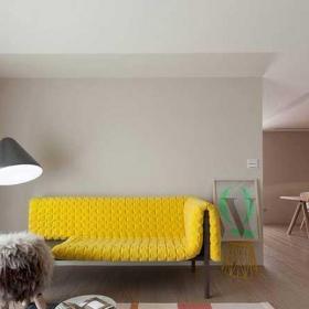 120平米混搭风格四房混搭客厅沙发设计图片效果图