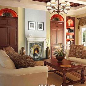客廳壁爐裝飾畫圖片大全效果圖