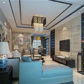 中式新中式客厅设计案例效果图
