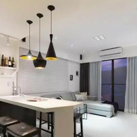 loft风格小户型一居室客厅设计实景图大全效果图