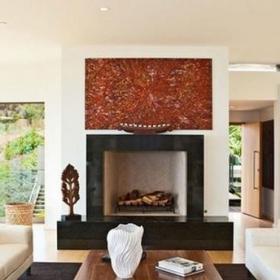 壁爐簡約風格裝修設計客廳圖片裝修效果圖