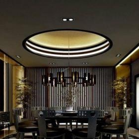 色彩明艳的餐厅客厅吊顶效果图