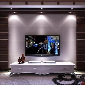 君澜?#30340;?#30005;视背景墙木制客厅电视背景墙效果图