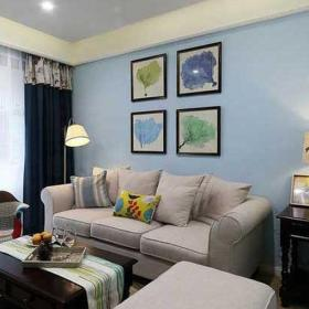 公寓120平米小清新120平混搭风格装修客厅效果图