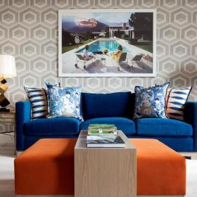 客厅沙发背景装饰画效果图大全