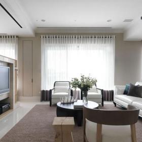 简约风格50平米小户型客厅全景图效果图