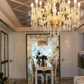 最新客厅餐厅一体吊顶效果图