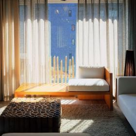 中式样板间客厅窗户设计装修效果图