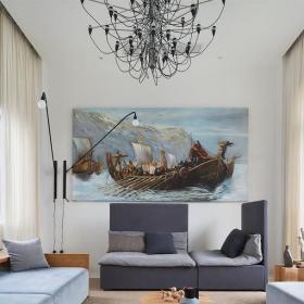 混搭客厅装饰画效果图大全