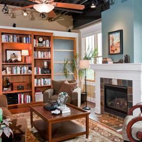 大气时尚的客厅布置效果图