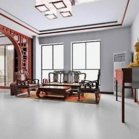 中式风格客厅垭口装修效果图中式风格实木茶几图片