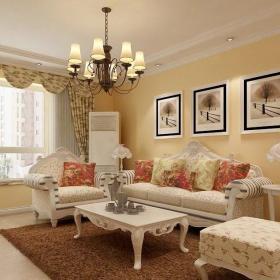 客厅吊顶灯 欧式客厅装修效果图