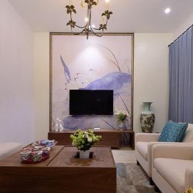清新禅意混搭客厅装饰效果图