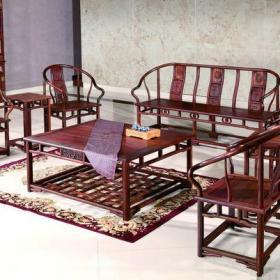 中式风格客厅背景墙装修效果图中式风格红木沙发图片