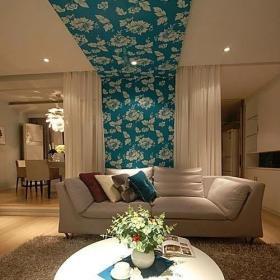 溫暖清新住宅客廳設計效果圖