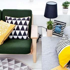 沙发背景墙客厅沙发设计布置图片大全效果图