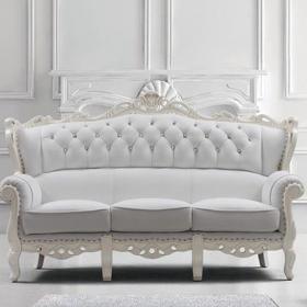 欧式风格客厅沙发布艺沙发白色欧式沙发装修图效果图