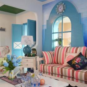 地中式风格客厅居家装饰图片大全效果图