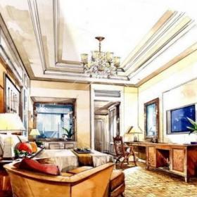 歐式客廳手繪設計效果圖推薦大全