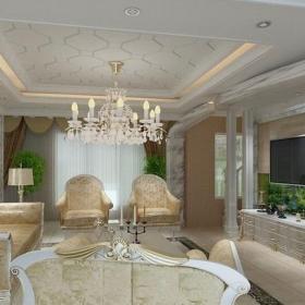 简约欧式风格客厅吊顶装修效果图简约欧式风格客厅吊顶灯图片