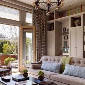 美式风御龙湾美式小清新客厅装修设计效果图