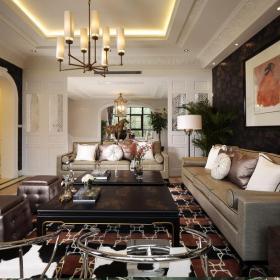 混搭沙发茶几客厅背景墙客厅实景图装修效果图