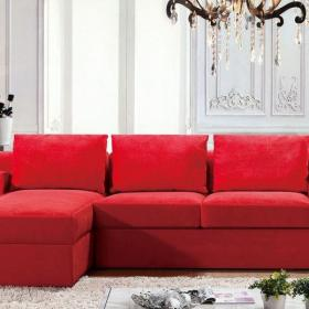 紅色混搭三居室小資情調混搭風優雅舒適客廳紅沙發效果圖