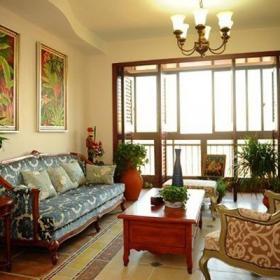沙發椅實木茶幾裝飾畫家居擺件歐式家具歐式沙發歐式客廳127㎡三居室鄉村風格客廳背景墻裝修效果圖鄉村風