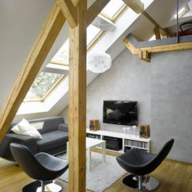 小戶型簡約型閣樓客廳設計效果圖
