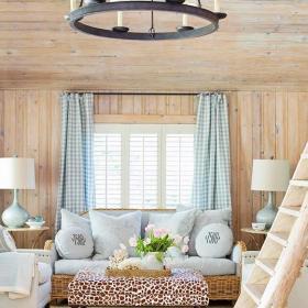 躍層110㎡實木家具原汁原味莫過于實木客廳裝修效果圖