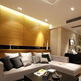 公寓簡約風格一居室客廳沙發背景墻沙發效果圖
