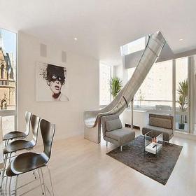 創意家居照片墻復式公寓簡約風格客廳吊頂裝修效果圖復式公寓簡約風格單人沙發圖片