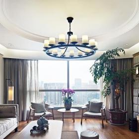 中式风格新中式风格140平米以上客厅侧面装修图片效果图