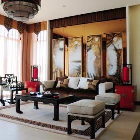 沙发吊顶美式风格客厅沙发背景墙装修效果图,美式风格客厅吊顶图片