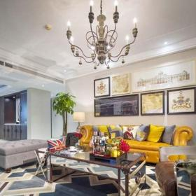美式風格140平米以上別墅藝術美式復古客廳裝修效果圖