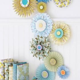 客厅背景墙创意生活用品创意背景墙面的美好手工装饰图效果图欣赏