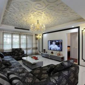 沙发背景墙欧式客厅客厅背景墙沙发实拍图装修效果图