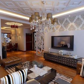 混搭混搭风格客厅设计方案效果图