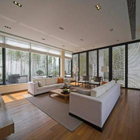 新中式客厅别墅装修案例效果图
