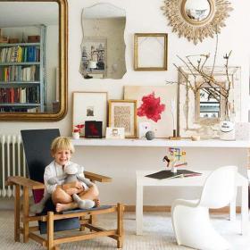 歐式單身公寓客廳背景墻110㎡銅飾的家裝背景效果圖