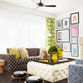 欧式风格大气米色欧式客厅茶几效果图