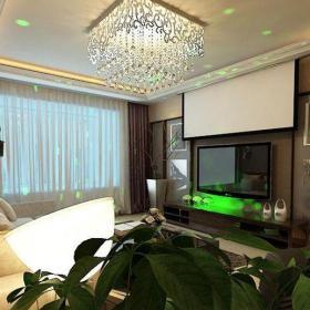 客厅91-120平米120平米简欧四居室咖啡色隐形门装修效果图
