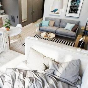 超小户型小户型客厅卧室一体设计效果图