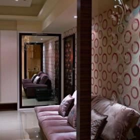 客厅玻璃屏风隔断设计效果图