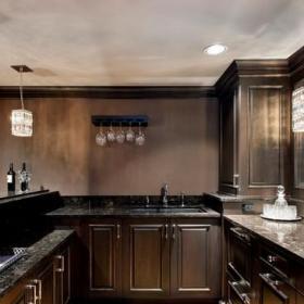 ?#32771;?#27431;式风格3层别墅唯美开放式厨房客厅设计图效果图
