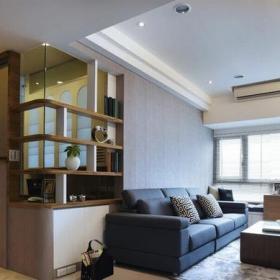 日式风格家居客厅石膏板吊顶效果图